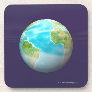3D globo 4 Posavasos