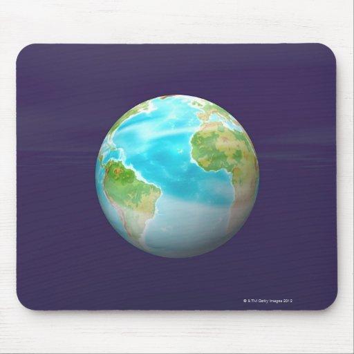 3D globo 4 Tapetes De Raton