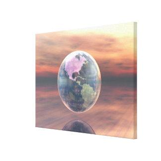 3D globo 5 Lona Estirada Galerias