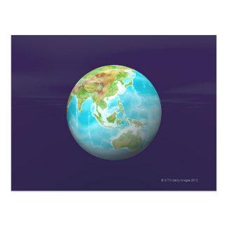 3D globo 6 Postal