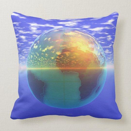 3D globo 9 Cojín Decorativo