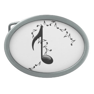 3D Glossy Music Note Belt Buckle