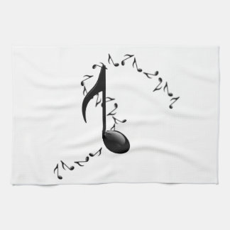 3D Glossy Music Note Kitchen Towel