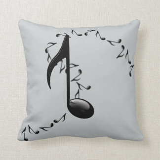 3D Glossy Music Note Throw Pillow