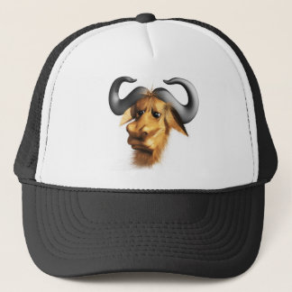3d-gnu-head trucker hat