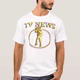 3D Gold Cameraman T-Shirt