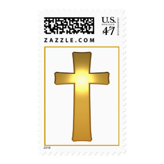 3D Gold Cross Postage