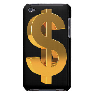 3d Gold Dollar Symbol iPod Touch Cases