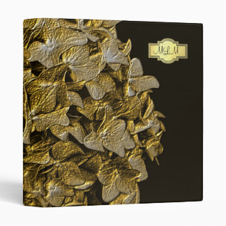 3D Gold Hydrangea Monogram Photo Binder