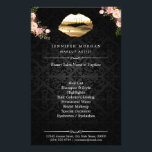 """3D Gold Lips Floral Makeup Artist Beauty Salon Flyer<br><div class=""""desc"""">3D Gold Lips Floral Makeup Artist Beauty Salon Flyer. (1) For further customization,  please click the &quot;customize further&quot; link and use our design tool to modify this template.  (2) If you need help or matching items,  please contact me.</div>"""