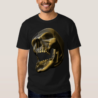 3D Gold Metalic Skull Tshirt