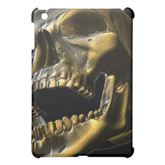 3D Gold Open Mouth Skull Ipad Case