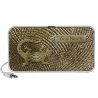 3D Golden Lizard Portable Speaker