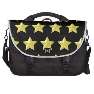 3D Golden Star Shape Rivet Pattern Bag Laptop Computer Bag