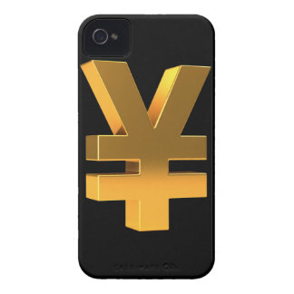 3d golden yen (Any Color U Like!) iPhone 4 Case