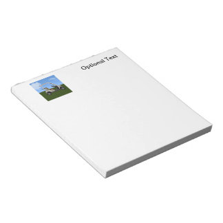 3D Golf Cart on Grass Notepad