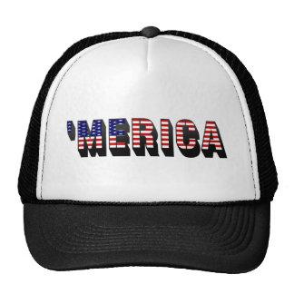 3D 'gorra del camionero de la bandera de MERICA LO