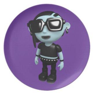 3d Goth Sunglasses plate