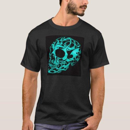 3D gothic skull T_Shirt