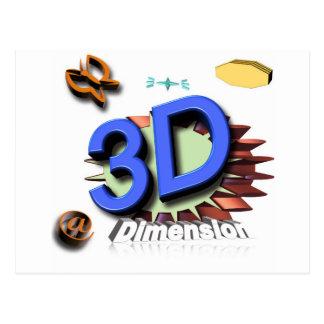 3d grafica postcard