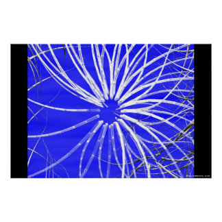 3D graphics poster style blue 1