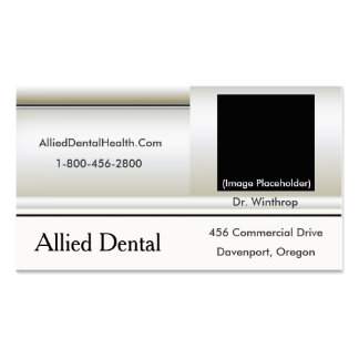 3D Greek Statue, Pro Beveled White Health Care Business Card