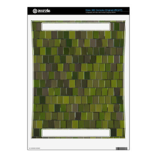 3D green squares pattern Xbox 360 Decals