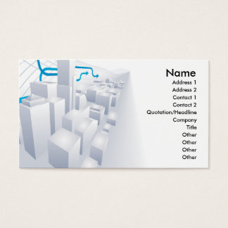 3d grey city business card background