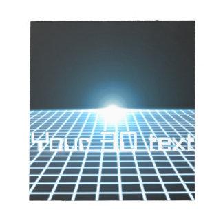 3D-Grid que brilla intensamente con el texto adapt Blocs De Papel
