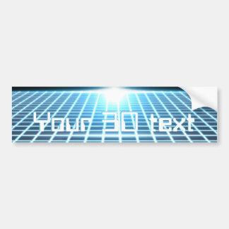 3D-Grid que brilla intensamente con el texto adapt Etiqueta De Parachoque
