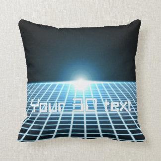 3D-Grid que brilla intensamente con el texto adapt Almohadas