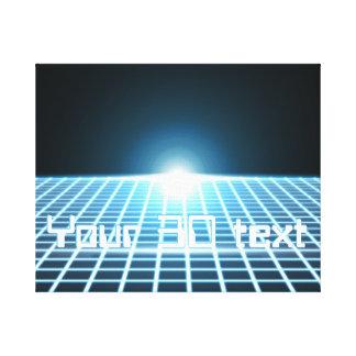 3D-Grid que brilla intensamente con el texto adapt Lienzo Envuelto Para Galerías