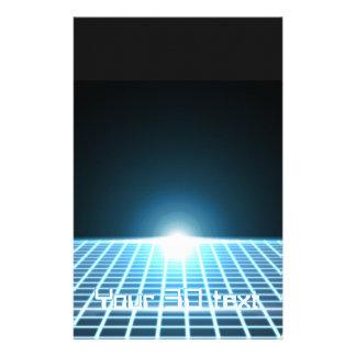 3D-Grid que brilla intensamente con el texto adapt Papeleria De Diseño