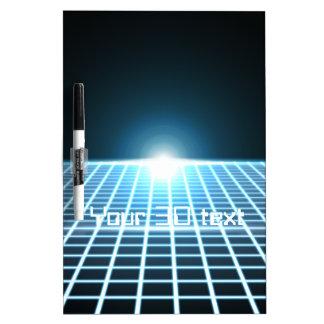 3D-Grid que brilla intensamente con el texto adapt Pizarras Blancas