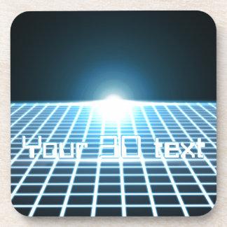 3D-Grid que brilla intensamente con el texto adapt Posavasos De Bebidas