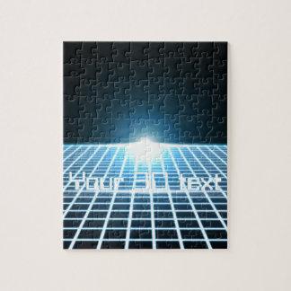 3D-Grid que brilla intensamente con el texto adapt Rompecabezas Con Fotos