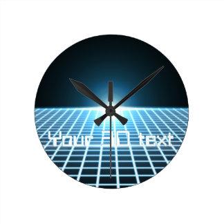 3D-Grid que brilla intensamente con el texto adapt Relojes