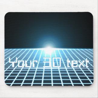 3D-Grid que brilla intensamente con el texto adapt Alfombrillas De Raton