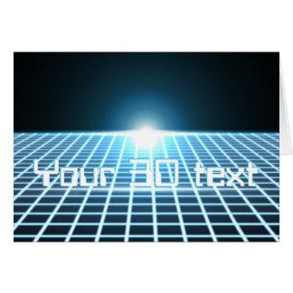 3D-Grid que brilla intensamente con el texto adapt Felicitación