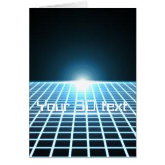 3D-Grid que brilla intensamente con el texto adapt Felicitacion