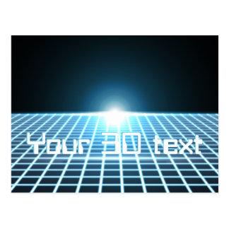 3D-Grid que brilla intensamente con el texto adapt Postales
