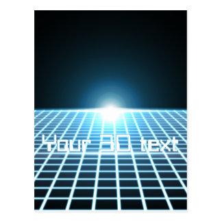 3D-Grid que brilla intensamente con el texto adapt Tarjetas Postales