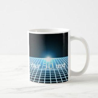 3D-Grid que brilla intensamente con el texto adapt Taza De Café