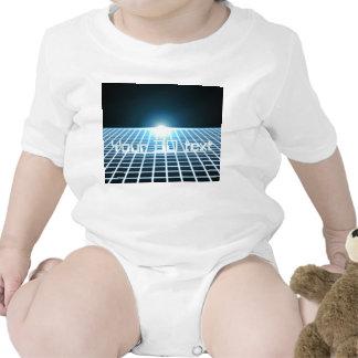 3D-Grid que brilla intensamente con el texto Trajes De Bebé
