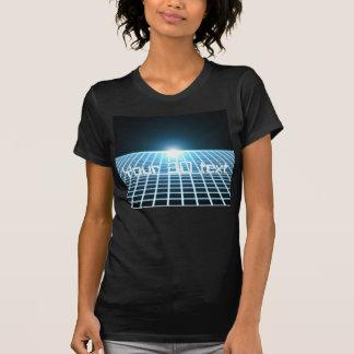 3D-Grid que brilla intensamente con el texto Camiseta
