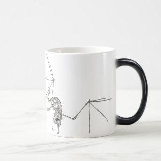 3D Halftone Flying Dragon Skeleton 1 Magic Mug