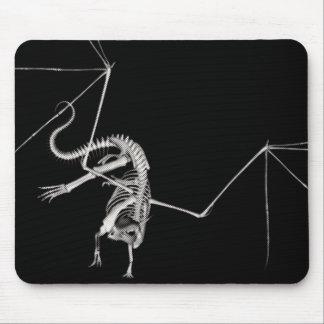 3D Halftone Flying Dragon Skeleton 1 Mouse Pad