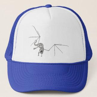 3D Halftone Flying Dragon Skeleton 1 Trucker Hat