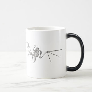 3D Halftone Flying Dragon Skeleton 2 Magic Mug