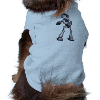 ♪♫♪ 3D Halftone Sci-Fi Robot Guy Dancing Dog Tshirt